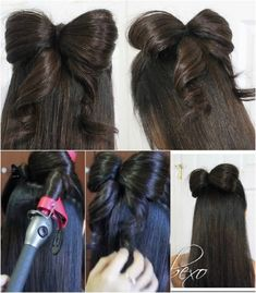 Bow Hairstyle How To Make A Bow In Your Hair Follow This Making Hair Bows