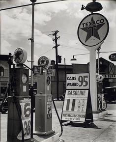 Gasoline station, July 02, 1936
