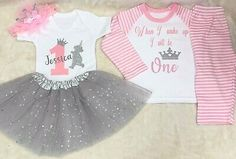 PERSONALISED PRINCE//PRINCESS PINK OR BLUE BABY SLEEPSUIT//BABYGROW OR PYJAMAS
