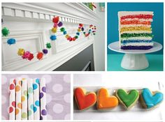Jayme Marie Designs: A party design board : rainbow party Rainbow Unicorn Party, Rainbow Birthday Party, Baby First Birthday, Rainbow Wedding, 5th Birthday, Birthday Ideas, Birthday Parties, Rainbow Party Decorations, Rainbow Parties