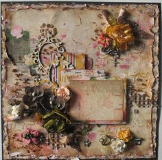 Vintage Layout - Bo Bunny - Juliet Collection