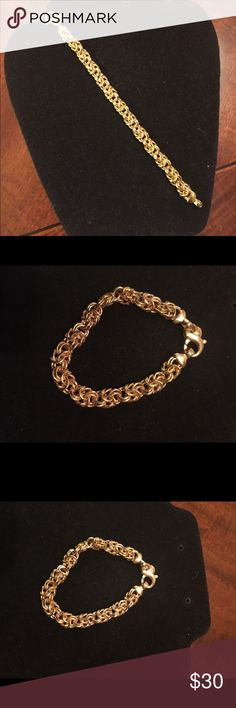 Byzantine 10k gold plated bronze bracelet By Bella Diva 10k gold plated bronze Byzantine bracelet. Beautiful. Been in my jewelry box. Hasn't tarnished. Hardly worn. Great condition. Jewelry Bracelets