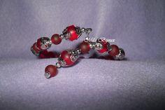 bracciale a molla perle rosse, by Mila Bijoux, 3,90 € su misshobby.com