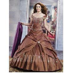 brown quinceanera dresses