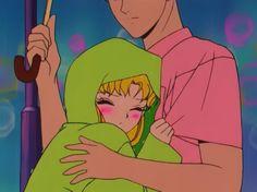 Usagi and Mamoru - Sailor Moon screencaps