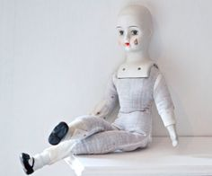 Porcelain Pierrot Doll Head Hands and feet of China by Meanglean