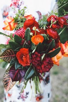 Colorful bridal #bouquet | Lara Hotz Photography | see more on http://burnettsboards.com/2014/02/colors-incredible-inspiration-shoot/
