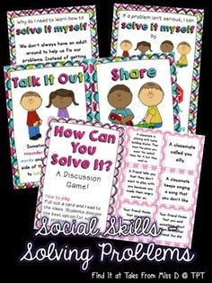 This pack contains everything you need to teach students some strategies for solving their own problems.  Included in this pack;  1) Poster explaining why we need to solve our own problems 2) Poster showing all the strategies for solving problems 3) A poster for each strategy with an explanation 4) How Can You Solve It? game