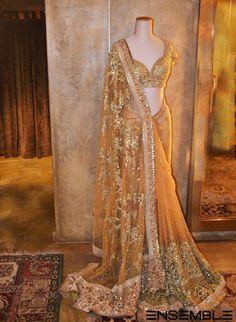 Cream shaded diamond embroidered work #designer #lehengacholi