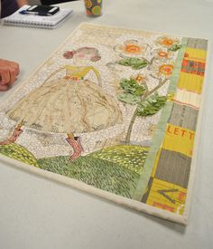 Cori Dantini fabric used in Quilted Art by Lindsay Conner 2013