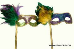 Now, here's a His&Hers Mardi Gras eyemask pair you'd absolutely love to don! Mardi Gras, Masquerade, Party Themes, Dolls, Halloween, Carnival, Baby Dolls, Puppet, Masquerades