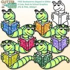 Bookworm clip art, for you, for free! Bookworm Clip Art Dipped in Glitter includes 6 sparkly worms as well as a blackline version. Both color and ...