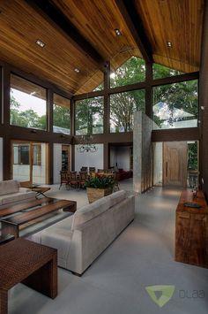 Navegue por fotos de Salas de estar campestres: Casa de Campo Quinta do Lago – Tarauata. Veja fotos com as melhores ideias e inspirações para criar uma casa perfeita. #Casasdecampo