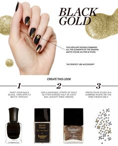 How To: Black Gold Mani