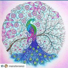 """Johanna Basford """"Secret Garden"""" - Peacock"""