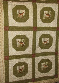 Deer Quilted Lap throw