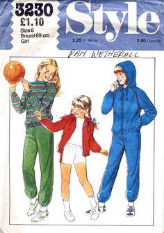 1980's Sportswear Pattern   VintagePatternCo