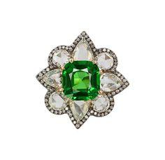 IVY New York ring with tsavorite and diamonds