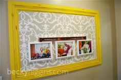 velcro the frames to the wall! This is awesome!!!