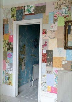 Wallpaper Patchwork Wall