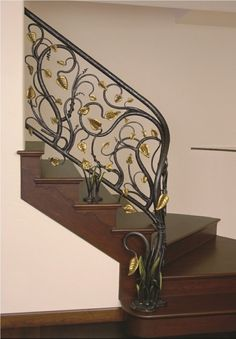If you need the perfect railing to accent your stairs and interior design, CustomMade artisans can make it for you within your budget. Wrought iron, wood & more. Iron Staircase Railing, Staircases, Iron Railings, Railing Design, Iron Art, House Stairs, My New Room, Decoration, Exterior Design