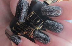 Black glitter #nails