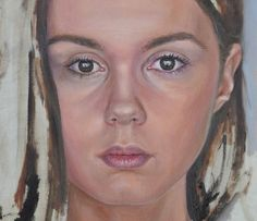 almost ready. portrait of a girl. 50x70 oil on canvas