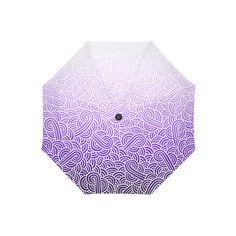 Ombre purple and white swirls doodles Auto-Foldable Umbrella ($33) ❤ liked on Polyvore featuring accessories, umbrellas, doodle, folding umbrella, white umbrella and purple umbrella