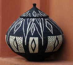 Africa | Black and white basket from South Africa | via Kim Sacks Gallery, Johannesburg