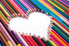 Different take on the love heart pencil idea Heart Art, Love Heart, Color Heart, Coloured Pencils, Soul Art, Happy Colors, Color Of Life, All You Need Is Love, Crayon