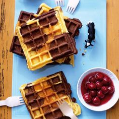 Schoko-Vanille-Waffeln Rezept - [LIVING AT HOME]