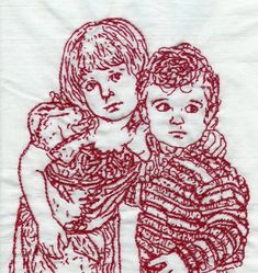 Custom redwork embroidery, needlepoint, beading, quilting - fine gifts