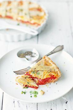 Tarta z pomidorami - Przepis