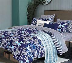 Indigo Lotus Twin XL Comforter Dorm Bedding Dorm Room Decor