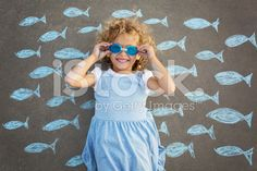 Young girl underwater imagination royalty-free stock photo