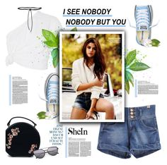 """""""SheIn"""" by tinaisapenguin ❤ liked on Polyvore featuring Rosie Assoulin, Converse, Chloé and Aamaya by priyanka"""