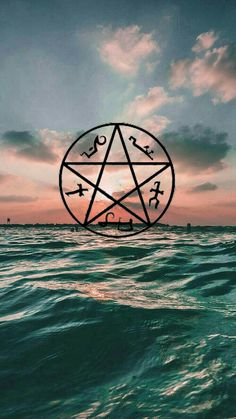 Devils trap, Supernatural, Spn fandom, Wallpaper, Sun, Sea, Penragram