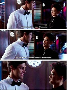 Season 1 Episode 12: Magnus and Alec -- so much smiling in this scene! I loved it