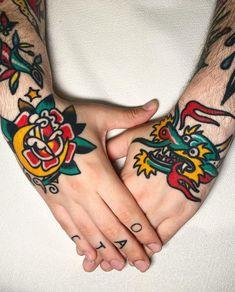 By our resident tattooist @javier_rodrigueztattoo  Book: javierrodrigueztattoo@gmail.com  #tattoo #sangbleulondon #traditionaltattoo #colourtattoo #javierrodrigueztattoo #dalstontattoo #sangbleutattoo Javier Rodriguez, Colour Tattoo, Traditional Tattoo, Tattoo Studio, Creative Director, Tattoo Artists, Tattoos, Book, Tattoo Traditional