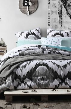 http://www.kitchenstyleideas.com/category/Queen-Comforter-Set/ kensie 'Jenna' Oversize Comforter Set available at #Nordstrom