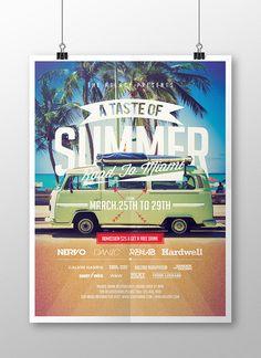 A Taste of Summer Flyer by Eduardo Mejia, via Behance
