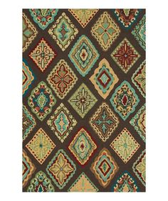 Look at this Brown & Blue Olivia Rug on #zulily today!