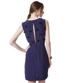 Vestido com Lacinhos Herchcovitch Azul Marinho - cea