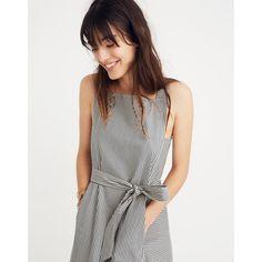 Apron Tie-Waist Dress in Stripe