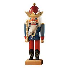 Nutcracker King.  Handmade with traditional red, blue, and gold colors.  $98.95. www.christmasfromgermany.com