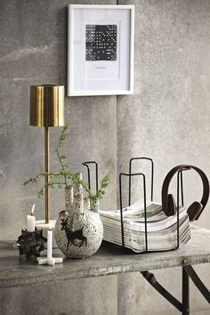 Interior #design details: #home decor with marble, #brass, ceramics and greys. Sneak peak House Doctor autumn 2015