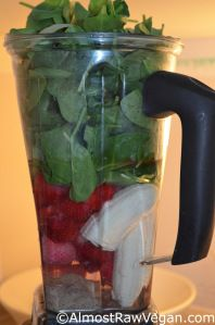 Strawberry Almond Butter Smoothie – Almost Raw Vegan