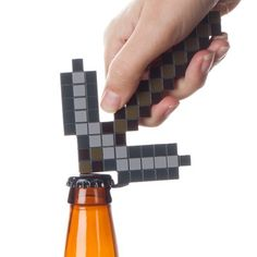 Minecraft pickaxe bottle opener Gamer Gifts, Inspired Homes, Cool Gifts, Bottle Opener, Minecraft, Geek Stuff, Gaming, Video Game, Decor