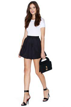 Scuba Skater Skirt - Black | Shop Bottoms at Nasty Gal