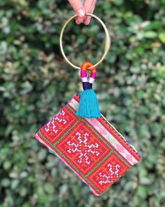 Grab 'n Go ✨🚗✨ GAIA Key Ring + Small 'Mariella' Pouch, made from a vintage embroidered Hmong textile • Tap image to shop! 🛍 • #GAIAgoodness #stylewithpurpose